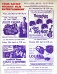 FLYER FILMS THE BEATLES LOLITA NIGHT TO REMEMBER JULIUS CAESAR; APR 1965; 196504BE