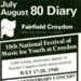 DIARY COVER NATIONAL YOUTH MUSIC FESTIVAL JULIAN LLOYD WEBBER; JUL 1980; 198007FG