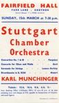 FLYER STUTTGART CHAMBER ORCHESTRA; MAR 1964; 196403FA
