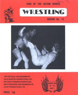PROGRAMME COVER WRESTLING; DEC 1979; 197912FG