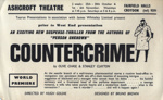 FLYER ASHCROFT THEATRE COUNTERCRIME WORLD PREMIER; OCT 1965; 196510BO