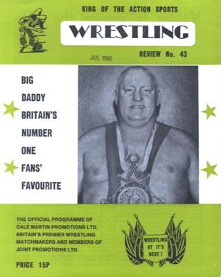 PROGRAMME WRESTLING BIG DADDY; JUL 1980; 198007FA