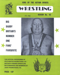 PROGRAMME WRESTLING BIG DADDY; JUL 1980; 198007FA