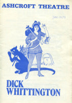 DICK WHITTINGTON PROGRAMME - THEATRE; DEC 1973; 197312MA
