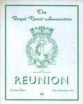 PROGRAMME ROYAL NAVAL ASSOCIATION REUNION; SEP 1973; 197309BB