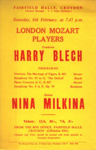 FLYER LONDON MOZART PLAYERS HARRY BLECH; FEB 1965; 196502BC