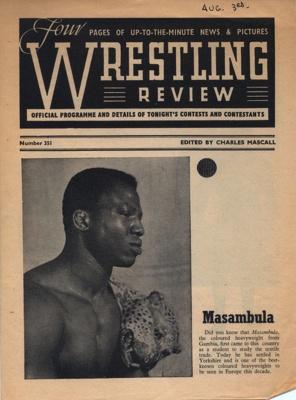 PROGRAMME WRESTLING MASAMBULA; AUG 1965; 196508BA