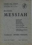 PROGRAMME CLASSICAL HANDEL MESSIAH CROYDON PHILHARMONIC CHOIR; NOV 1962; 196211DL