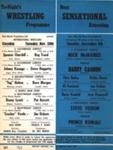 WRESTLING PROGRAMME MICH MCMANUS STEVE VEIDOR LES KELLETT JOHNNY KWANGO; NOV 1967; 196711BU