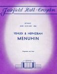 PROGRAMME CLASSICAL YEHUDI MENUHIN; JAN 1964; 196401FA