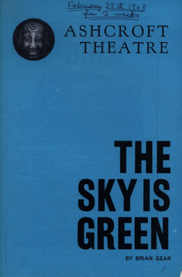 PROGRAMME ASHCROFT THE SKY IS GREEN MAURICE DENHAM BRIAN GEAR; FEB 1963; 196302BM