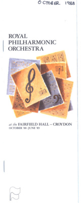FLYER ROYAL PHILHARMONIC ORCHESTRA 1987-88 SERIES; OCT 1988; 198810FA