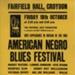 FLYER AMERICAN NEGRO BLUES FESTIVAL MUDDY WATERS MEMPHIS SLIM SONNY BOY WILLIAMSON MATT GUITAR MURPHY; OCT 1963; 196310BI