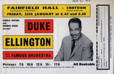 FLYER JAZZ BIG BAND SWING DUKE ELLINGTON; JAN 1963; 196301BI