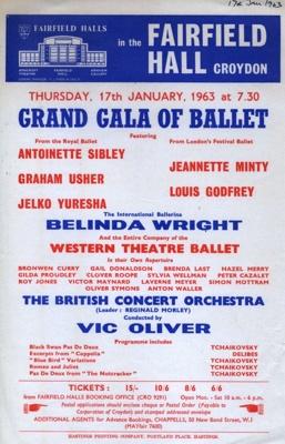 FLYER BALLET BELINDA WRIGHT; JAN 1963; 196301BG