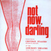 PROGRAMME CROYDON STAGERS NOT NOW DARLING; DEC 1971; 197112BE