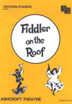 PROGRAMME MUSICAL FIDDLER ON THE ROOF CROYDON STAGERS; APR 1987; 198704FA