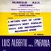 FLYER LUIS ALBERTO DEL PARANA LOS PARAGUAYOS; MAR 1969; 196903BQ