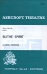 PROGRAMME ASHCROFT THEATRE BLITHE SPIRIT; JUN 1966; 196606BC