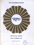 PROGRAMME ROYAL PHILHARMONIC ORCHESTRA CLASSICAL; FEB 1969; 196902BB