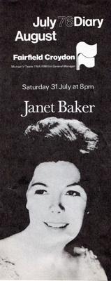 DAIRY MUSIC JANET BAKER; JUL 1976; 197607FA