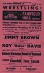 FLYER WRESTLING JOHNNY KWANGO JIMMY BROWN ROY BULL DAVIS; NOV 1962; 196211DK