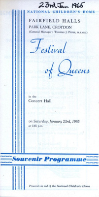 FESTIVAL OF QUEENS HARRY CORBETT SOOTY; JAN 1965; 196501BG
