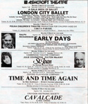 FAIRFIELD DIARY CONTENTS PAGE MARCH 1981 LONDON CITY BALLET RALPH RICHARDSON ST JOAN TIME AND TIME AGAIN CAVALCADE; MAR 1981; 198103FC