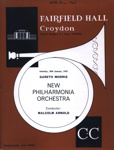 PROGRAMME CLASSICAL NEW PHILHARMONIA ORCHESTRA MALCOLM ARNOLD; JAN 1965; 196501BL