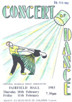 PROGRAMME CONCERT OF DANCE; FEB 1983; 198302FE