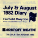 DIARY COVER THEATRE MUSICAL THE WIZARD OF OZ; JUL 1982; 198207FC