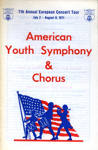 PROGRAMME MUSIC AMERICAN YOUTH SYMPHONY ORCHESTRA; AUG 1971; 197108BB
