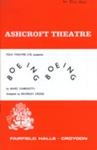 PROGRAMME ASHCROFT THEATRE BOEING BOEING; JUN 1967; 196706BI