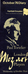 DIARY MUSIC PAUL TORTELIER LONDON MOZART PLAYERS; OCT 1976; 197610FA