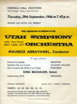 FLYER CLASSICAL UTAH SYMPHONEY ORCHESTRA; SEP 1966; 196609BI