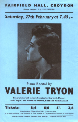 FLYER VALERIE TRYON CLASSICAL; FEB 1965; 196502BI
