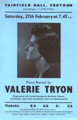 FLYER VALERIE TRYON CLASSICAL; FEB 1965; 196502BI