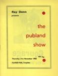 PROGRAMME THE PUBLAND SHOW; NOV 1968; 196811BM