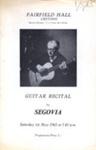 PROGRAMME CLASSICAL SEGOVIA; MAY 1965; 196505BC