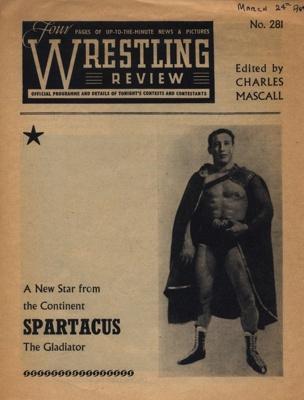 PROGRAMME WRESTLING SPARTACUS; MAR 1964; 196403BE