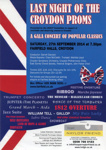 LAST NIGHT OF THE CROYDON PROMS - FLYER; AUG 2014; 201409NB