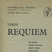 VERDI REQUIEM PROGRAMME MYERS FOGGIN; MAY 1965; 196505MA