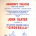 FLYER PANTO CINDERELLA JOHN SLATER; DEC 1964; 196412BK