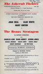 FLYER THE BEAUX STRATAGEM GEORGE FARQUHAR; MAY 1963; 196305BE