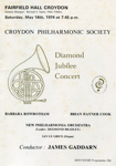CROYDON PHILHARMONIC SOCIETY DIAMOND JUBILEE CONCERT; MAY 1974; 197405FA