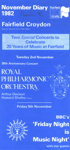 DIARY ROYAL PHILHARMONIC ORCHESTRA 20TH ANNIVERSARY ARTHUR DAVIDSON BBC'S FRIDAY NIGHT IS MUSIC NIGHT; NOV 1982; 198211FE