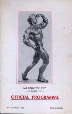 PROGRAMME MR UNIVERSE 1963; SEP 1963; 196309BQ