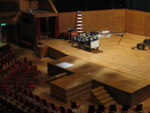PHOTO FAIRFIELD CONCERT HALL SET UP FOR FILMING OF THE DA VINCI CODE; OCT 2005; 200510FC