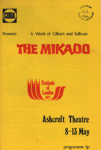PROGRAMME THE MIKADO CODA GILBERT AND SULIVAN; MAY 1972; 197205BB