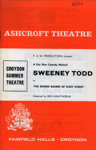 PROGRAMME ASHCROFT THEATRE SWEENY TODD; JUL 1968; 196807BB